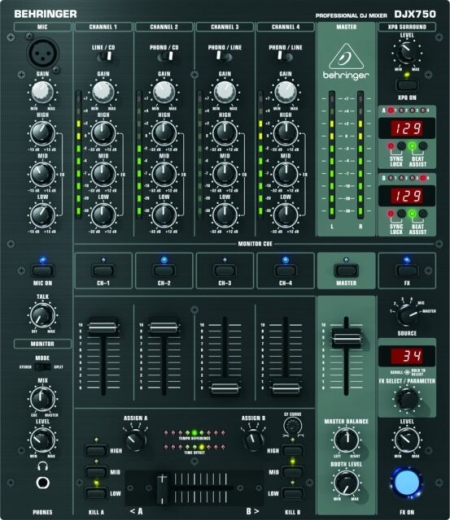 Mixer Behringer DJX 750 SEMI NOVO (Foto Ilustrativa)