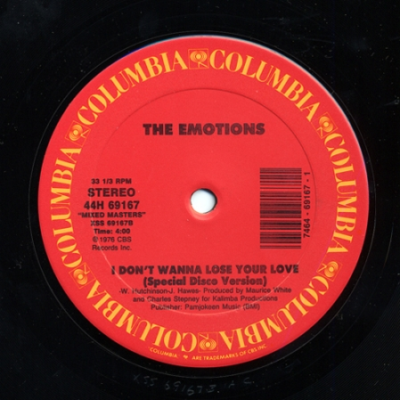 The Emotions ‎– Best Of My Love / I Don't Wanna Lose Your Love