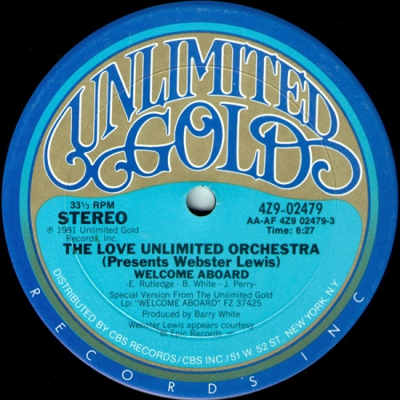 The Love Unlimited Orchestra Presents Webster Lewis ‎– Welcome Aboard / Strange
