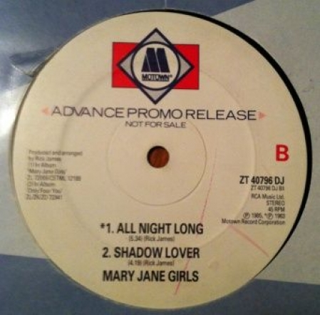 Mary Jane Girls ‎– Walk Like A Man / All Night Long / Shadow Lover