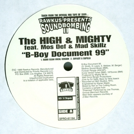 The High & Mighty ‎– B-Boy Document 99
