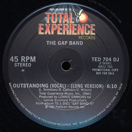The Gap Band ‎– Outstanding