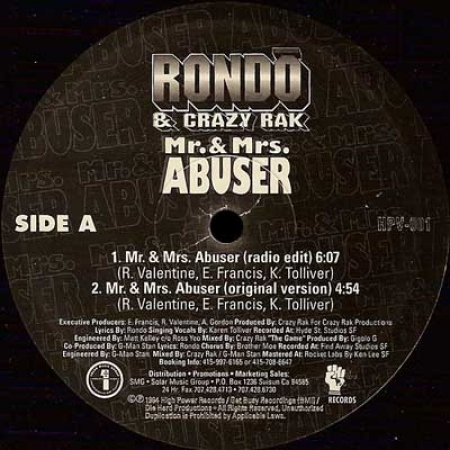 Rondo & Crazy Rak – Mr. & Mrs. Abuser