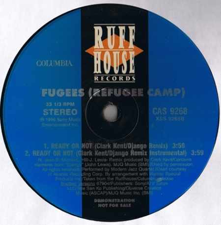 Fugees ‎– Don't Cry Dry Your Eyes / Ready Or Not (Clark Kent / Django Remix)