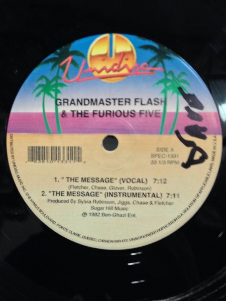 Grandmaster Flash & The Furious Five / Sugar Hill Gang ‎- The Message / Rappers Delight