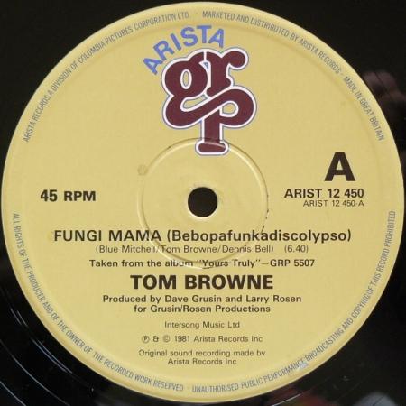 Tom Browne – Fungi Mama (Bebopafunkadiscolypso) / Funkin' For Jamaica Remix