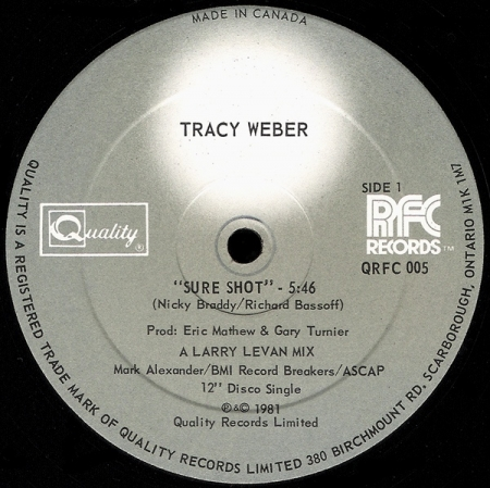 Tracy Weber ‎– Sure Shot
