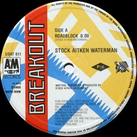Stock Aitken Waterman ‎– Roadblock