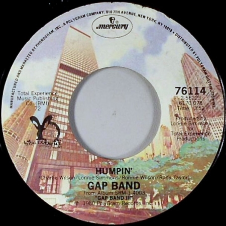 The Gap Band ‎– Humpin / No Hiding Place