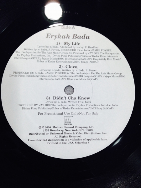 Erykah Badu - Lp Promo