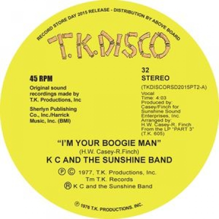 K C And The Sunshine Band ‎– I'm Your Boogie Man