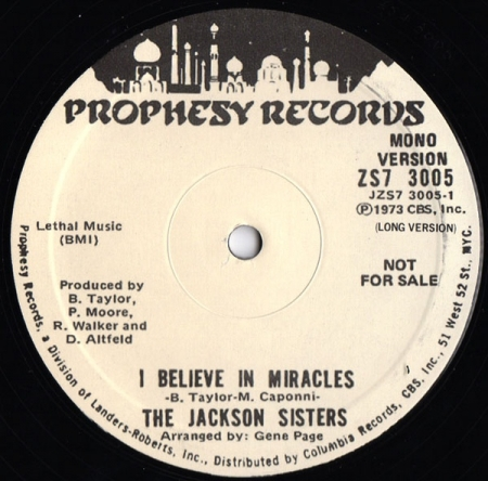 The Jackson Sisters – I Believe In Miracles