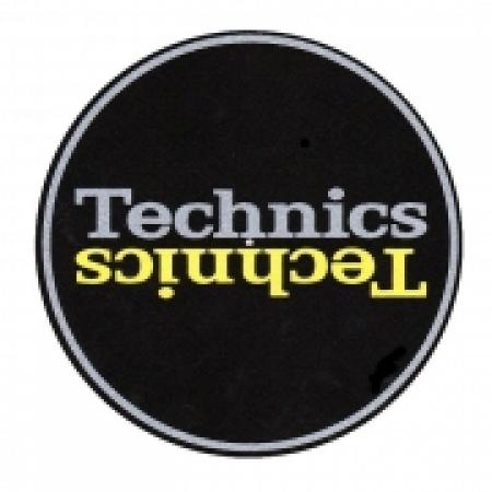 Feltro Para Toca Disco Technics Black & Yellow (UNIDADE)