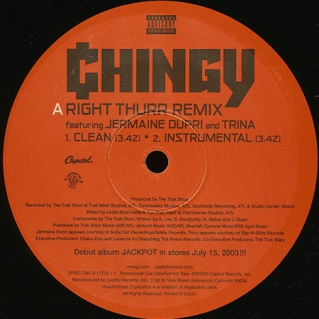 Chingy ‎– Right Thurr (Remix