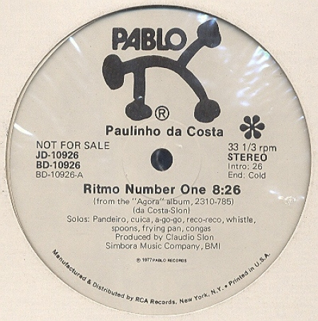 Paulinho Da Costa ‎– Ritmo Number One