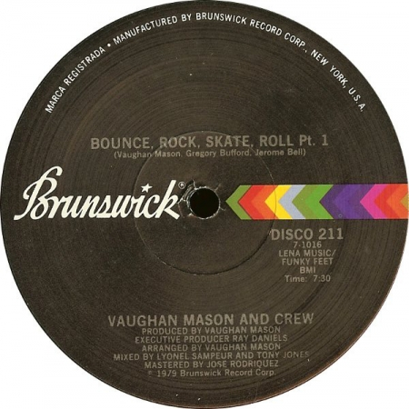 Vaughan Mason And Crew ?– Bounce, Rock, Skate, Roll