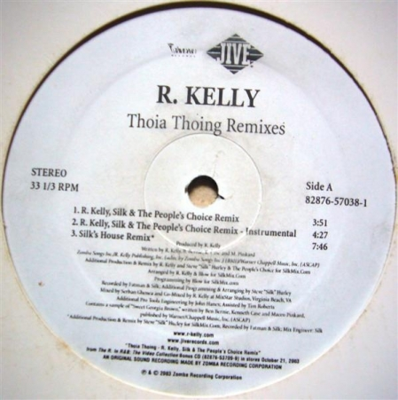 R. Kelly ‎– Thoia Thong Remixes