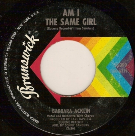 Barbara Acklin ‎– Am I The Same Girl / Be By My Side