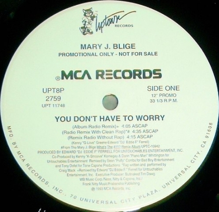 Mary J Blige ‎– You Dont Have To Worry