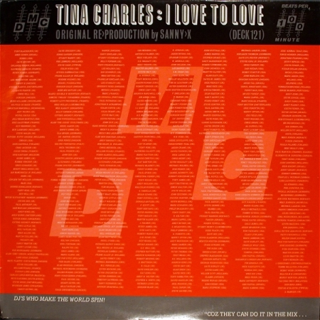 Tina Charles ‎– I Love To Love