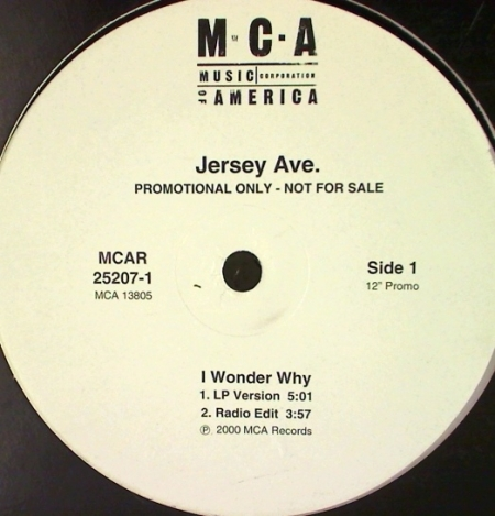 Jersey Ave ‎– I Wonder Why