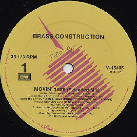 Brass Construction ‎– Movin' 1988