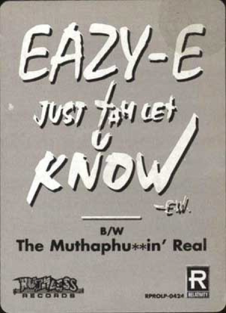 Eazy-E ‎– The Muthaph**in' Real