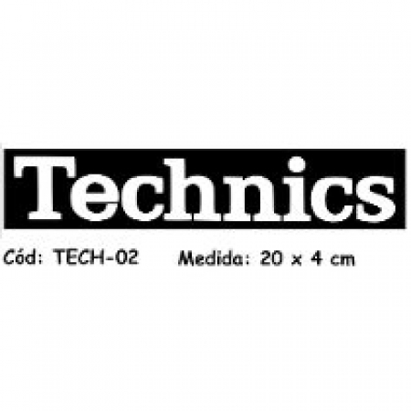 ADESIVO TECHNICS - para lateral do toca-disco