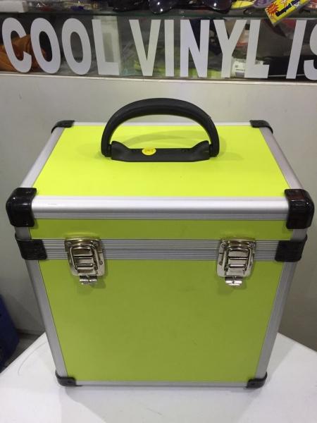 Case Para Vinyl Capacidade 70 Discos (Verde Abacate)