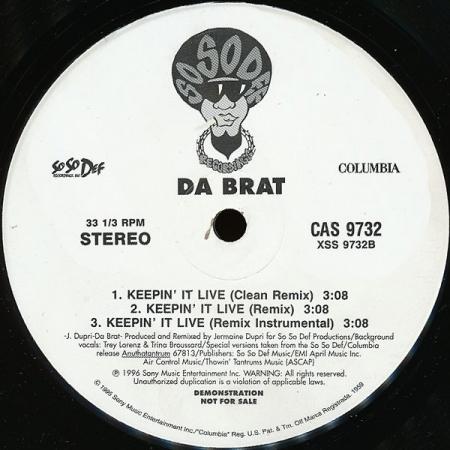 Da Brat – Keepin' It Live / Let's All Get High