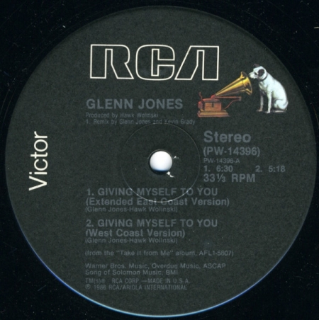 Glenn Jones ‎– Giving Myself To You