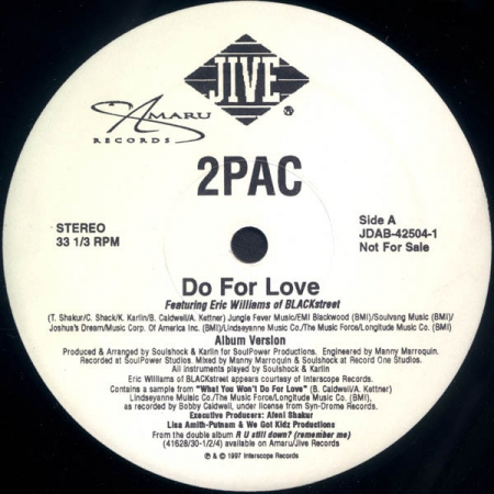 2Pac – Do For Love (VERSÃO INSTRUMENTAL)