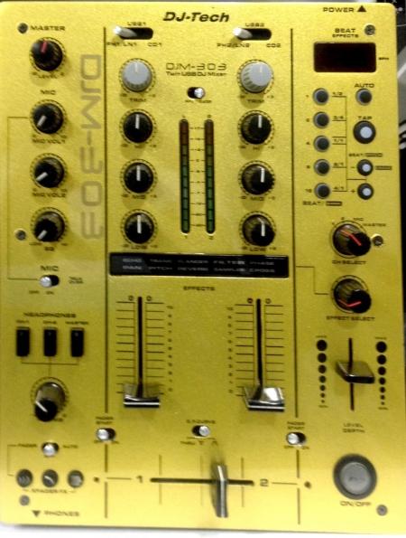 Mixer Dj Tech 303 - dourado