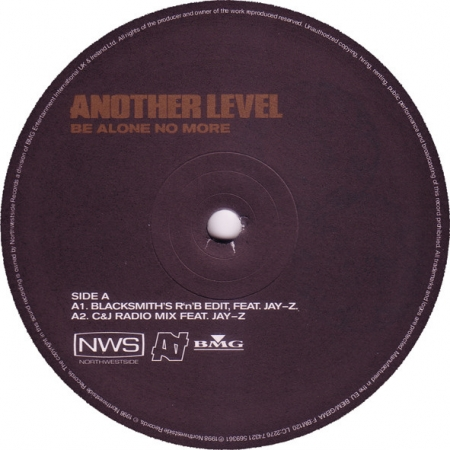 Another Level ‎– Be Alone No More (com capa) tem letras rotulo
