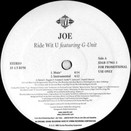 Joe – Ride Wit U