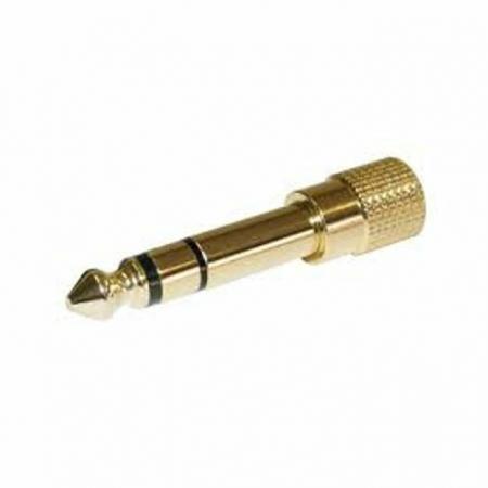 Adaptador Stereo Plug P.10 / P. 2 GOLD (De Rosca)