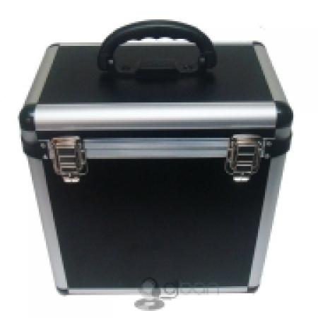 Case Para Vinyl Capacidade 75 Discos (Cor Preto)