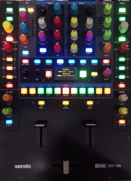 Mixer Rane 62 (Semi-Novo) Knobs Colors
