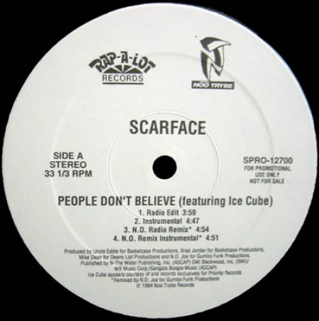 Scarface ‎– People Don't Believe
