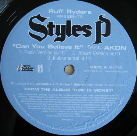 Styles P ‎– Can You Believe It / I'm Black