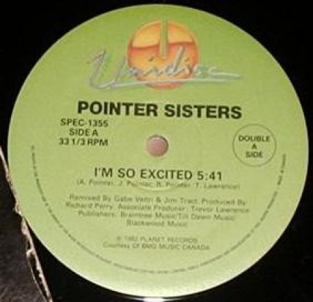 Pointer Sisters / Geraldine Hunt – Im So Excited / Can't Fake The Feeling