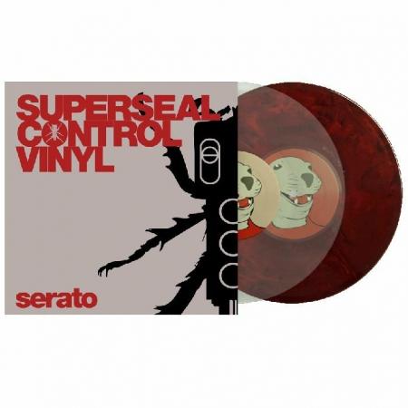 Timecode Serato Control Vinyl Superseal 10'' Polegadas Clear & Vinho (O Par)