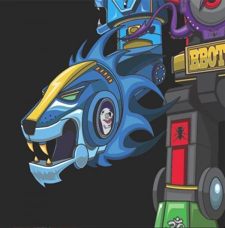 Skratchy Seal – Super Seal Giant Robo V.2 Right Arm (Disco Azul Mesclado)
