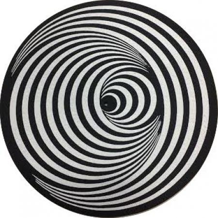 Feltro Para Toca Disco Aspiral Circular (Preto & Branco) UNIDADE