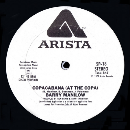 Barry Manilow ‎– Copacabana (At The Copa)