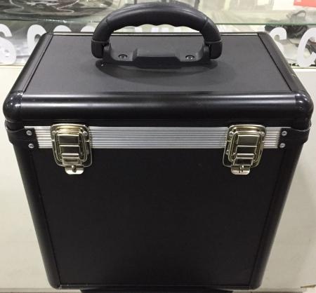 Case Para Vinyl Capacidade 75 Discos (Preto Black)