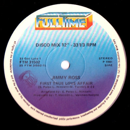 Jimmy Ross ‎– First True Love Affair