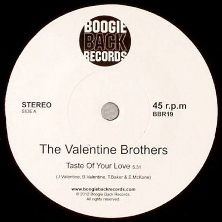 The Valentine Brothers ‎– Taste Of Your Love