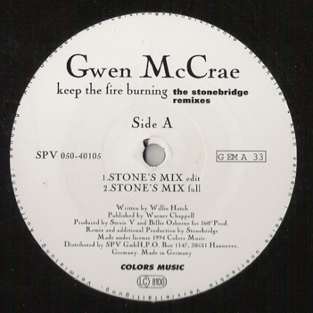 Gwen McCrae ‎– Keep The Fire Burning (The Stonebridge Remixes)