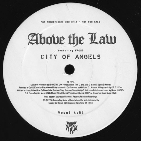 Above The Law ‎– City Of Angels